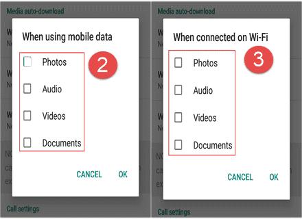 data usage srtting